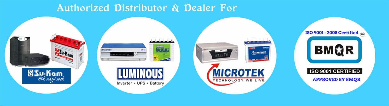 Authorized Distributor & Dealer for UPS, Batteries & Inverters
